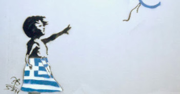 banksy euro greece